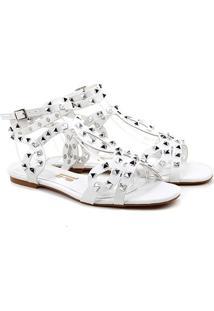 Rasteira Santa Lolla Spikes - Feminino-Branco