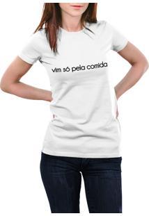 Camiseta Hunter Só Pela Comida Branca