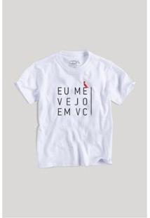 Camiseta Infantil Eu Me Vejo Em Você Reserva Mini Masculina - Masculino-Branco