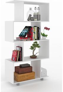 Estante Para Livros 4 Prateleiras 600050 Branco - Vedere