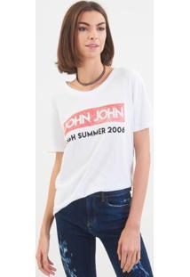 Camiseta John John Jj High Summer Malha Branco Feminina (Branco, Pp)