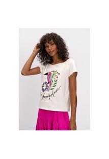 T-Shirt Básica Com Manga Curta Lança Perfume T-Shirt Branco
