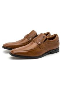 Sapato Social Masculino Parma Em Couro Comfort Seratto Canela