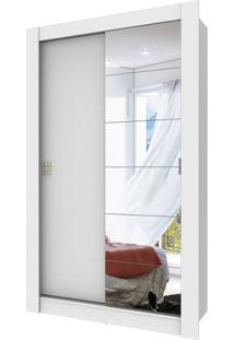 Guarda-Roupa Solteiro Com Espelho Auriflama 2 Pt 2 Gv Branco