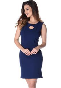 Vestido Pks Girl Social Azul Marinho