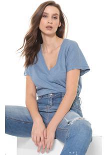 Camiseta Colcci Lettering Azul - Kanui