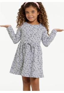 Vestido Infantil Moletinho Estrelas Manga Longa Marisa