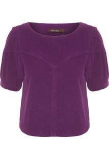 Camiseta Feminina Velvet - Roxo