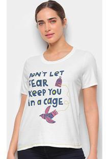 Camiseta T-Shirt Cantão Classic Cage Feminina - Feminino-Off White