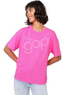 Camiseta Gap Lettering Pink