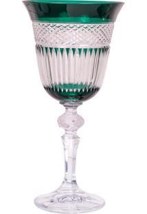 Taça De Cristal Lodz Para Água De 220 Ml - Verde