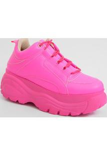 Tênis Feminino Sneaker Plataforma Neon Zatz