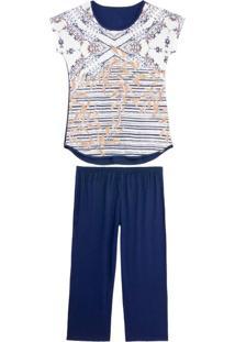 Pijama Feminino Recco Pescador Viscolycra