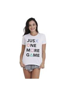 Camiseta Jay Jay Basica One More Game Branca Dtg