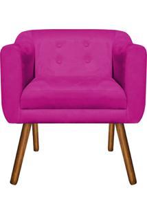 Poltrona Decorativa Julia Suede Pink - D'Rossi