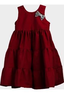 Vestido Doce Magia Algodão Vermelho