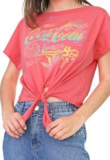 Camiseta Coca-Cola Jeans Logo Rosa - Kanui