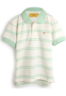 Camisa Vr Kids Infantil Listrada Off-White/Verde