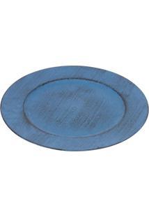 Sousplat Rústico- Azul- Ø33Cmricaelle