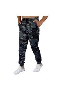 Calça Jogger Masculina Camuflada C/Punho - Memorize Jeans