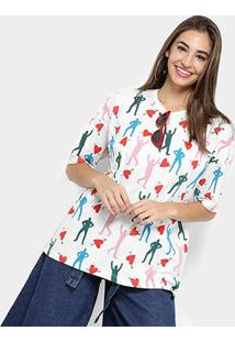 Camiseta T-Shirt Cantão Estampada Feminino - Feminino