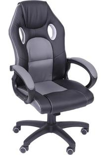 Cadeira Office Gamer- Cinza & Preta- 117X46X51Cmor Design