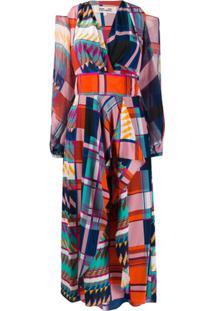 Dvf Diane Von Furstenberg Geometric Pattern Wrap Dress - Estampado