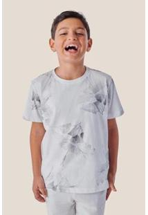 Camiseta Infantil Reserva Mini Full Print Hibisco Vj Masculina - Masculino