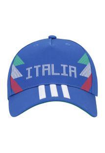 Boné Aba Curva Itália 3S 2018 Adidas - Snapback - Adulto - Azul Verde b76dddf361fad
