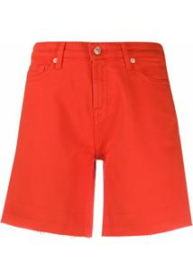 7 For All Mankind Short Jeans - Vermelho