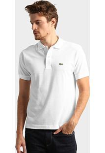 9d8a5863f6db2 Camisa Polo Lacoste Original Fit Masculina - Masculino-Branco