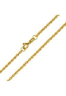 Corrente Corda Em Ouro Amarelo De 40 Cm