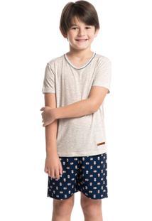 Pijama Infantil Masculino Curto Estampado Luciano