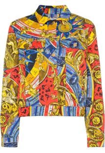 Moschino Jaqueta Jeans Roman Estampada - 1888 Multicoloured