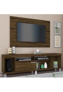 Rack Com Painel Para Tv 1 Porta Tomaz 702024 Savana - Madetec