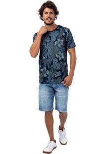 Bermuda Jeans Luan Slim Tng Masculina - Masculino-Azul
