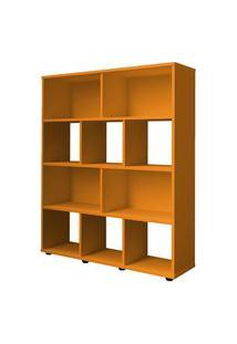 Estante Para Livros Rack Book 3 Prateleiras Amarelo Artely