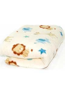 Manta De Microfibra Confort Baby Hazime Safari Amarelo