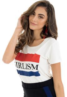 T-Shirt La Mandinne Girlsm Off White