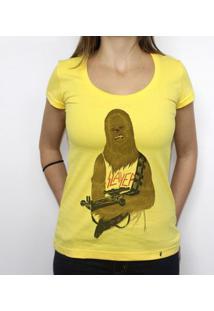 Chewbacca Headbanger - Camiseta Clássica Feminina