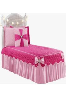 Colcha Laura Solteiro Infantil 5 Peã§As Pink - Multicolorido - Dafiti
