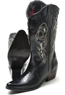 Bota Su Fashion Store Texana Country Feminina - Feminino-Preto