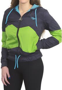 Jaqueta Starter Corta Vento Azul Marinho & Verde