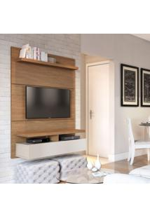 Painel Para Tv 40 Polegadas Zeus Natural E Off White 120 Cm