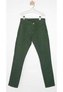 Calça Jeans Express Tito Masculina Infantil - Masculino-Verde