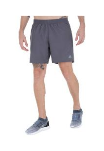 Bermuda Adidas Run It - Masculina - Cinza Escuro