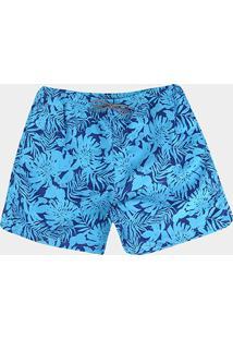 Bermuda Delkor Boardshort Plus Size Masculina - Masculino-Azul
