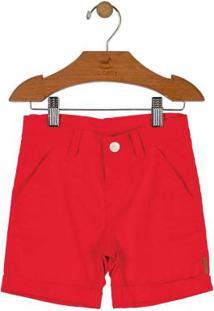 Bermuda Infantil Sarja Vermelho