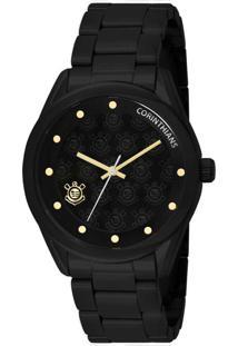 4813cf3d72a Relógio Masculino Analógico Technos Cor2035Af 4P Corinthians Preto