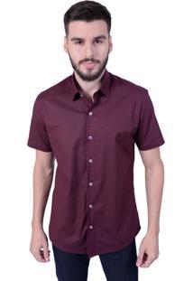 Camisa Off Wear Básica Vinho